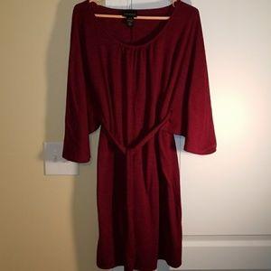 Lane Bryant 14/16 Maroon Women's Dress